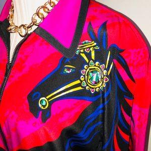 Vintage silk jacket rare horse design